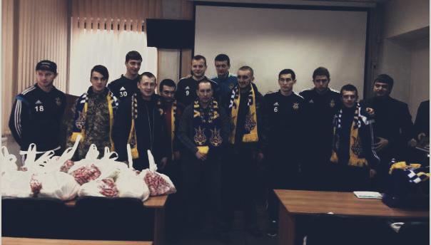 Сборная Украины проявила патриотизм во Львове (+ ФОТО)