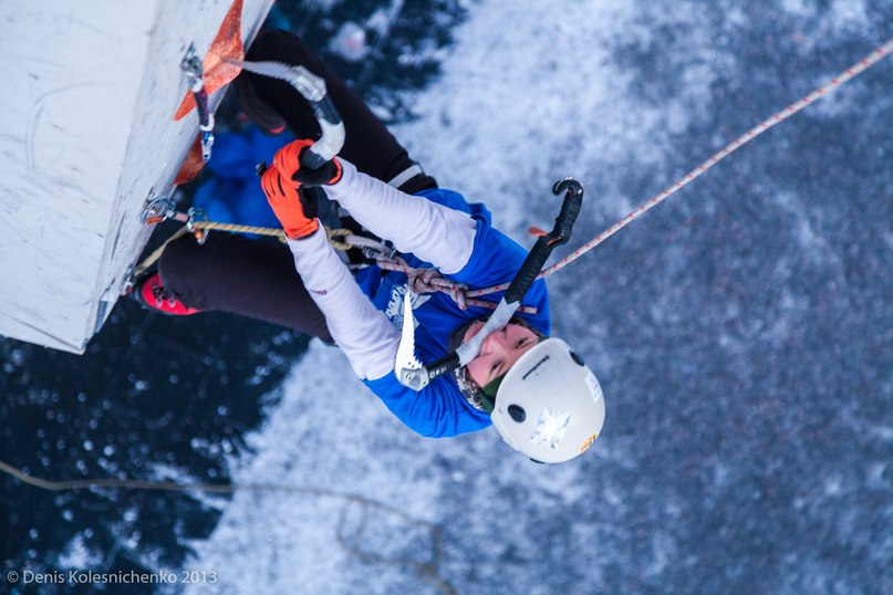 Чемпионат Украины по ледолазанию прошел в Харькове