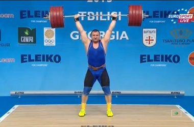 Олег Прошак став чемпіоном Європи з важкої атлетики