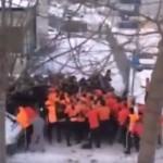 Украинцы поглумились над дракой шведских фанатов (ВИДЕО)