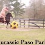 Тиранозавр зіграв у футбол на КОНІ (ВІДЕО)