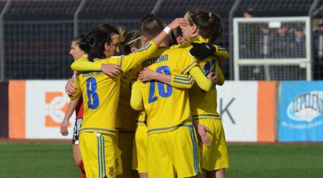 Женская сборная Украины победила Албанию