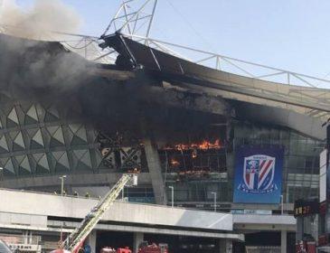 На стадіоні китайського клубу сталася пожежа