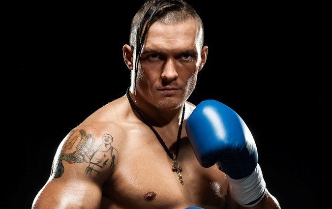Олександр Усик побив боксерську грушу в Буковелі