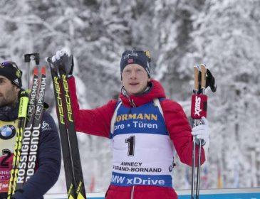 Йоханнес Бьо виграв четверту гонку поспіль на Кубку світу з біатлону