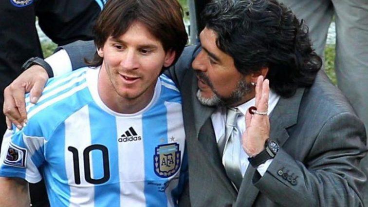 Легендарний аргентинець незвично порівняв Мессі і Марадону