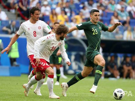 ЧС-2018: Данія та Австралія. Результати гри