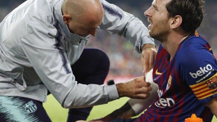 Нападаючий «Барселони» Ліонель Мессі отримав серйозну травму в матчі чемпіонату Іспанії