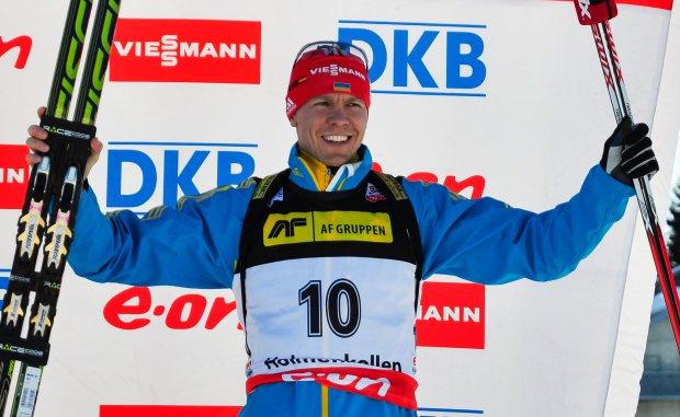 41-річний український біатлоніст Дериземля тріумфально переміг у Гонці легенд